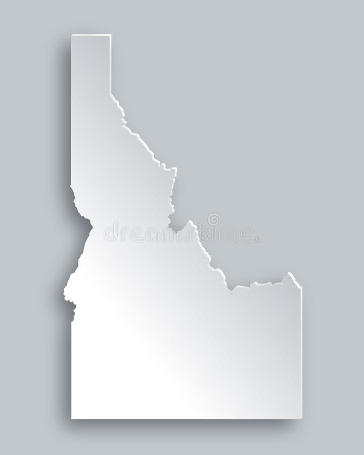 Map of Idaho royalty free illustration