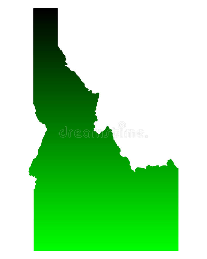 Map of Idaho stock illustration
