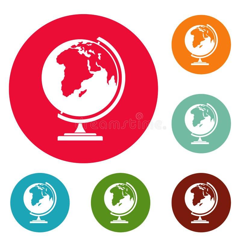 Map ikon okręgu set royalty ilustracja