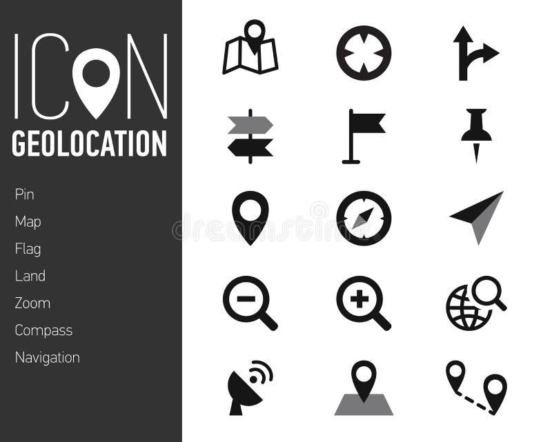Map ikony i lokacj ikony z Białym tłem royalty ilustracja