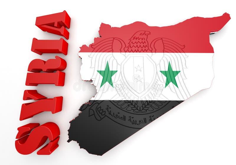 Download Map Illustration Of Syria With Map Stock de ilustración - Ilustración de east, digital: 44850900