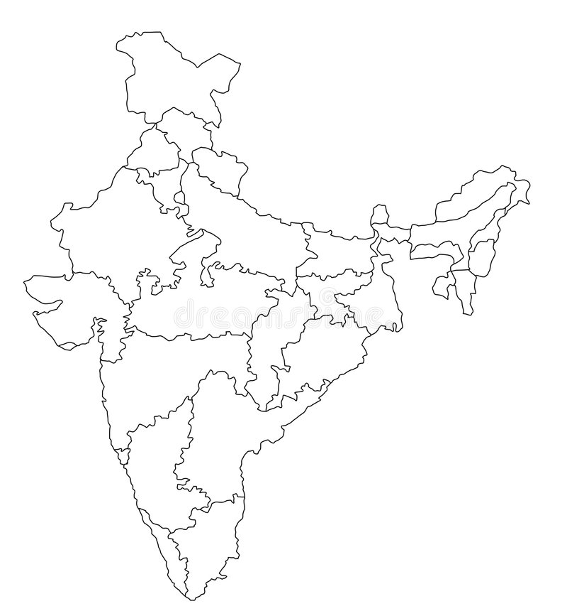 Map of India royalty free illustration