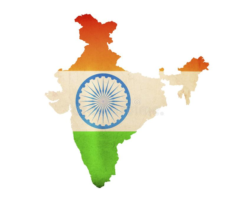 Map of India isolated royalty free stock photos
