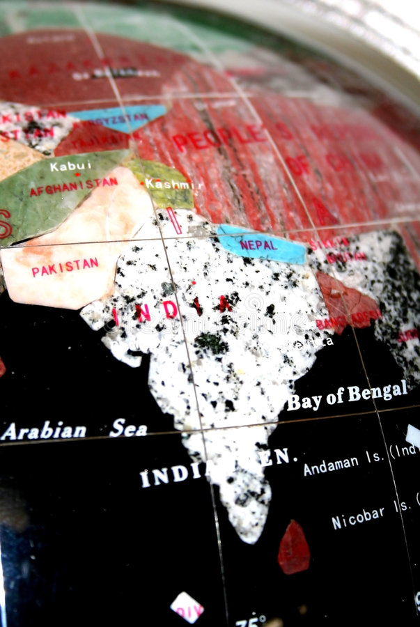 Map Of Indian Subcontinent Royalty Free Stock Photo