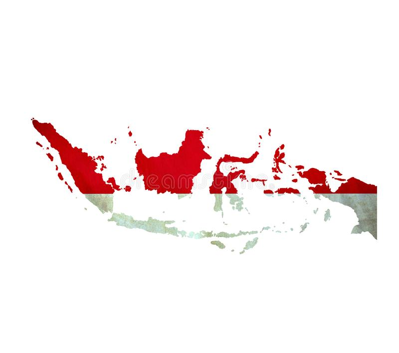 Map of Indonesia isolated royalty free stock photography