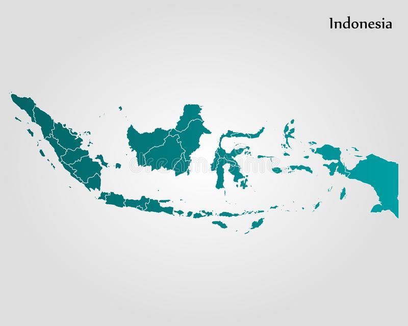 Map of indonesia stock illustration illustration of indonesian map of indonesia vector illustration world map gumiabroncs