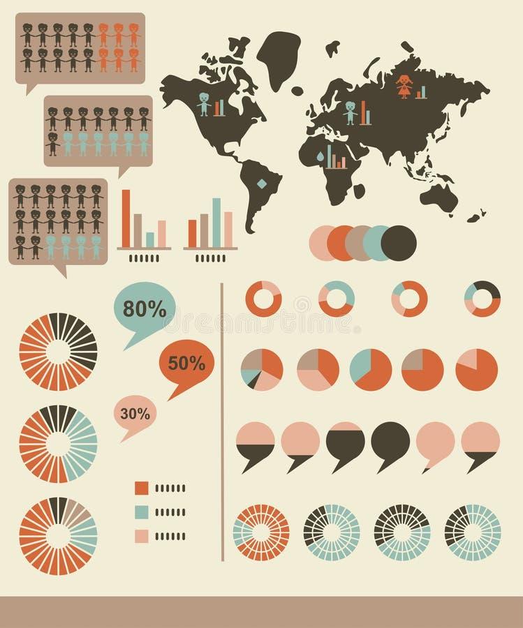 map infographics mapy wektoru świat ilustracji