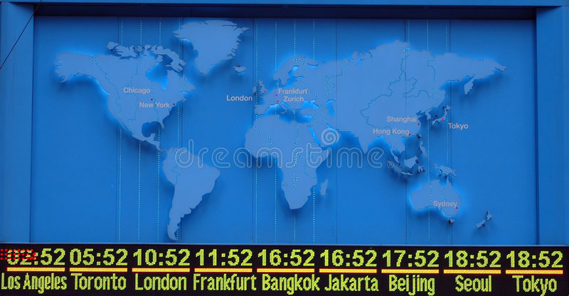 Map with international timezone royalty free stock images