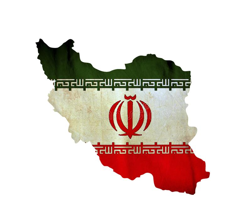 Map of Iran isolated stock images