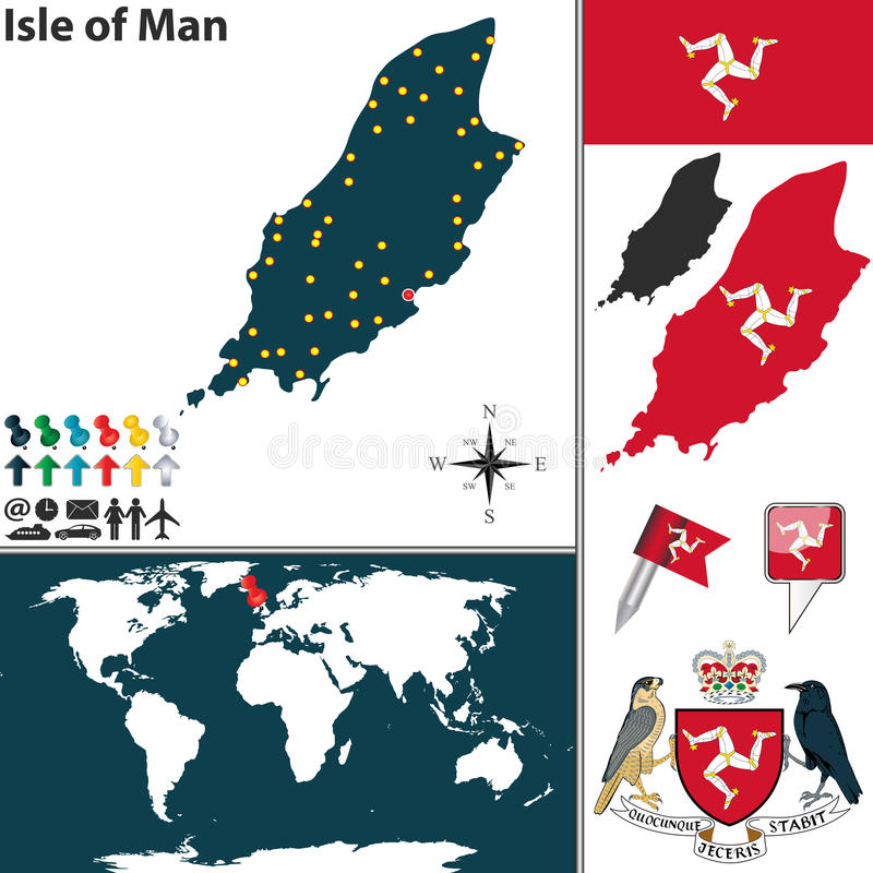 Map of Isle of Man stock vector Illustration of boundary 53005664
