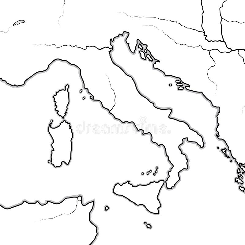 Map of The ITALIAN Lands: Italy, Tuscany, Lombardy, Sicily, The Apennines, Italian Peninsula. Geographic chart. vector illustration