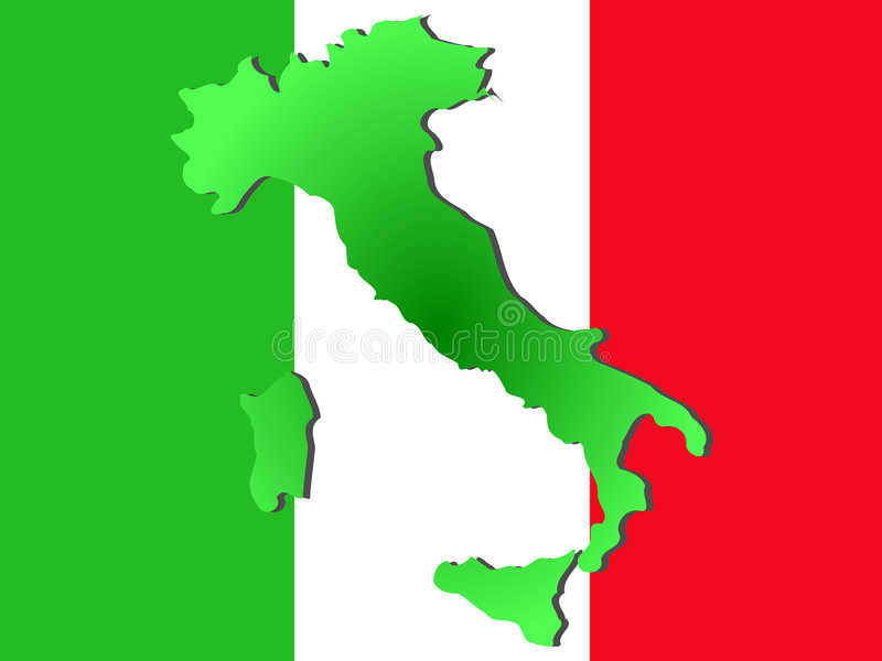 Download Map of Italy stock vector. Image of flag, geography, silhouette - 2382715