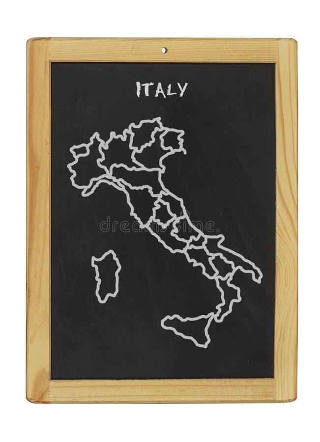 Download Map of italy stock illustration. Illustration of blackboard - 25568061