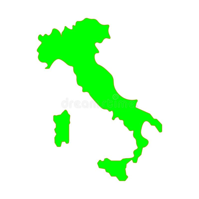 Map of Italy Rome Sign. Eps ten royalty free illustration