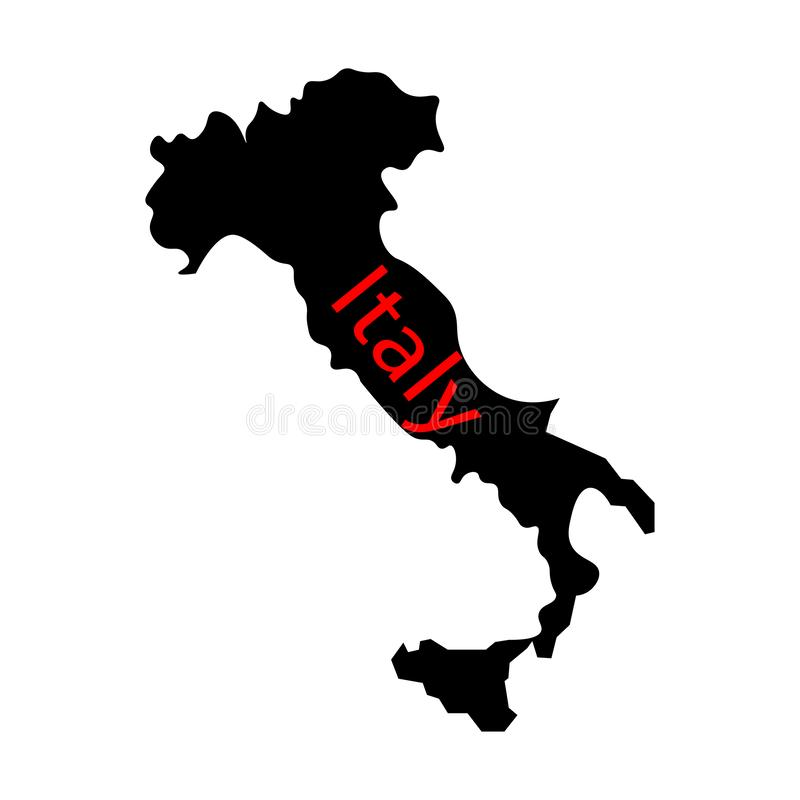 Map of Italy sign. state in southern europe. Eps ten royalty free illustration