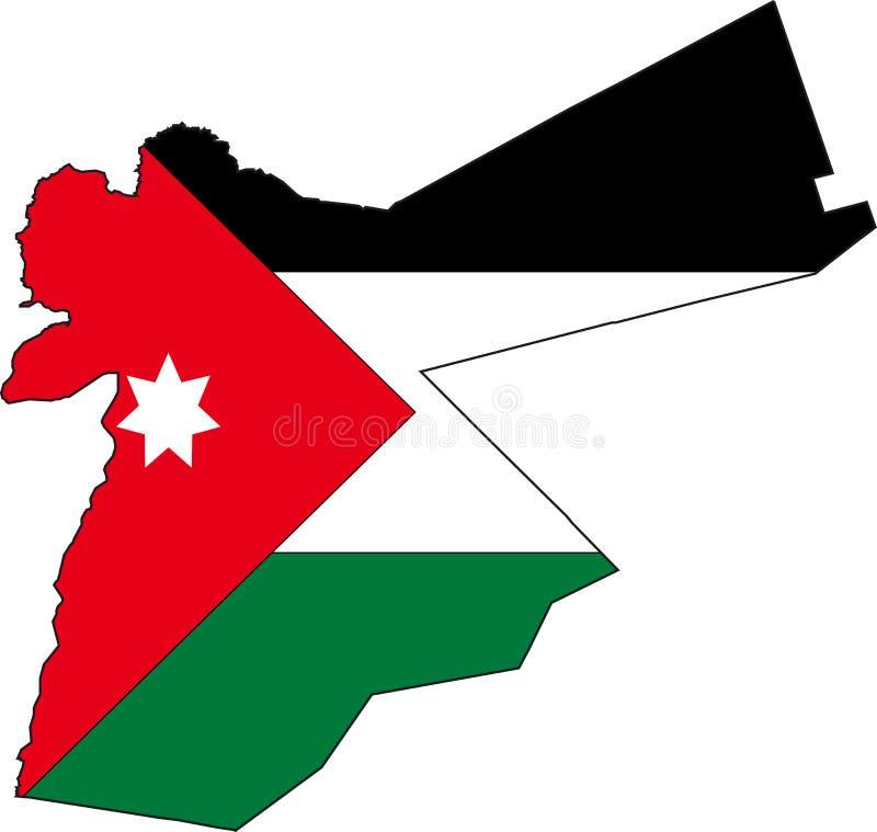 Map Jordan. Illustration Vector of a Map and Flag from Jordan stock illustration