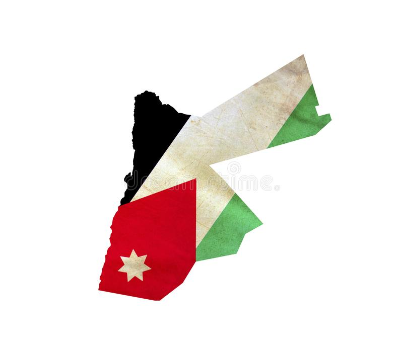 Map of Jordan isolated stock images