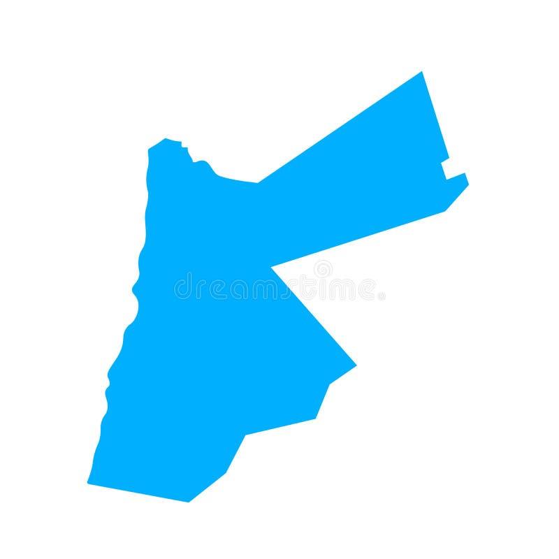 Map of Jordan. Outline. Silhouette of Jordan map vector illustration stock illustration