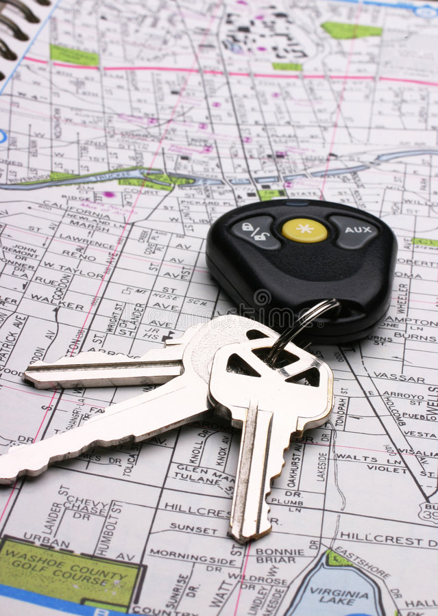 Download Map & Keys stock image. Image of gear, concept, planning - 115959
