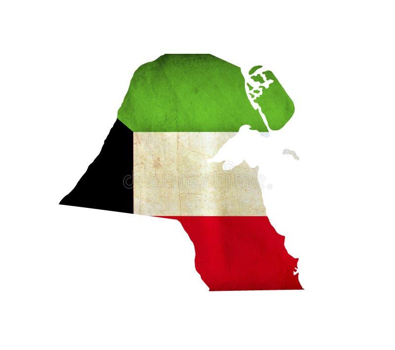 Map of Kuwait isolated royalty free stock photos