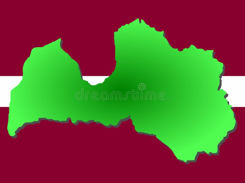 Download Map of Latvia stock vector. Illustration of atlas, flag - 2675279