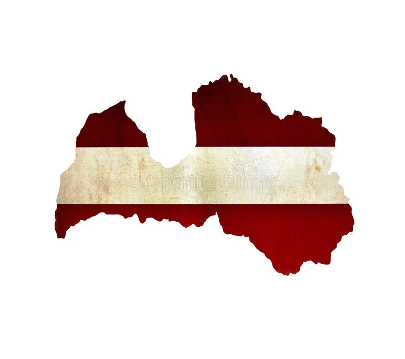 Map of Latvia isolated royalty free stock image