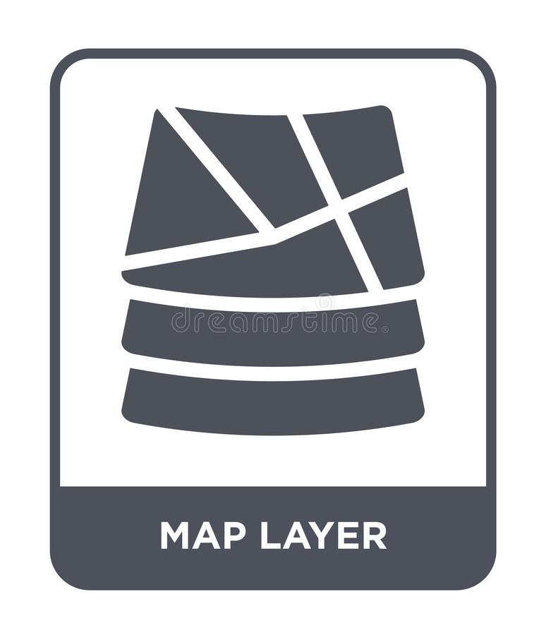 Map layer icon in trendy design style. map layer icon isolated on white background. map layer vector icon simple and modern flat. Symbol for web site, mobile royalty free illustration