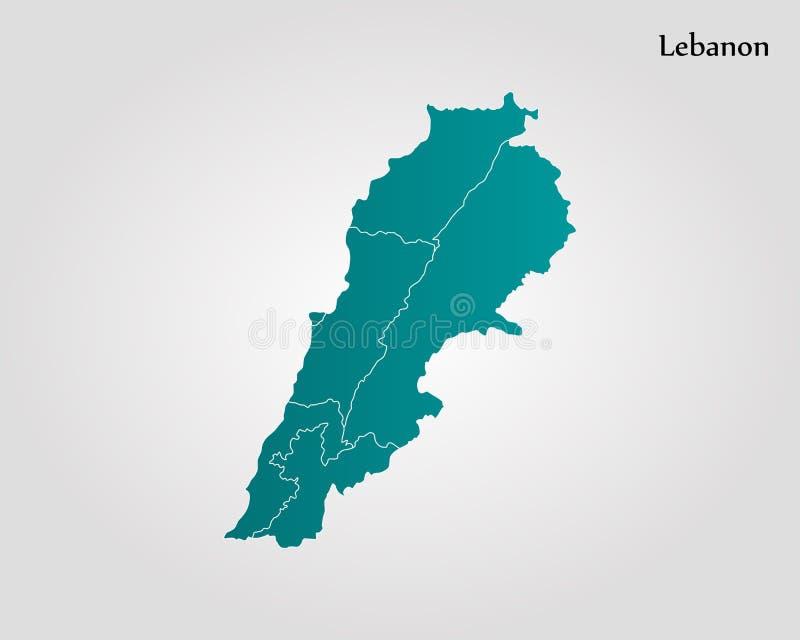 download map of lebanon stock illustration illustration of flag 103893185