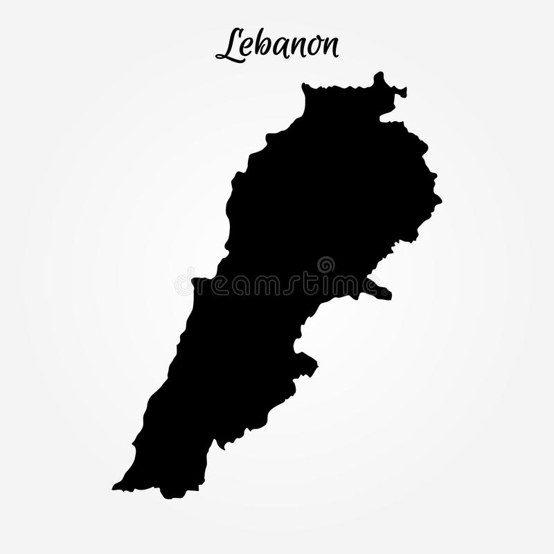map of lebanon vector illustration world map