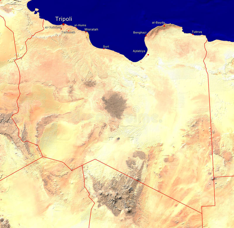 Map of libya stock image image of middle tripoli mediterranean download map of libya stock image image of middle tripoli mediterranean 18929163 publicscrutiny Image collections