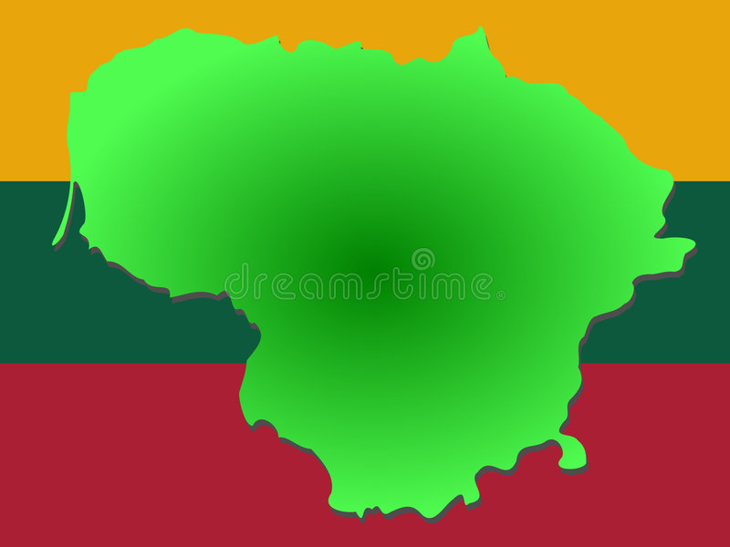 Map Of Lithuania Stock Vector Image Of Europe Illustration - Lithuania map vector