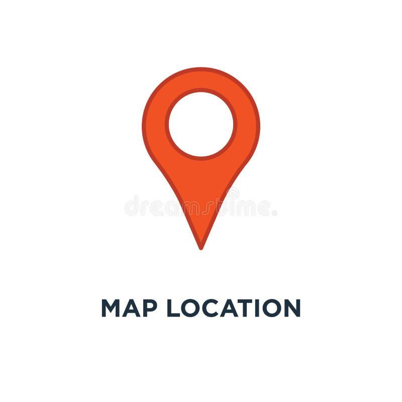 Map location icon. pin gps concept symbol design, vector illustr. Ation vector illustration