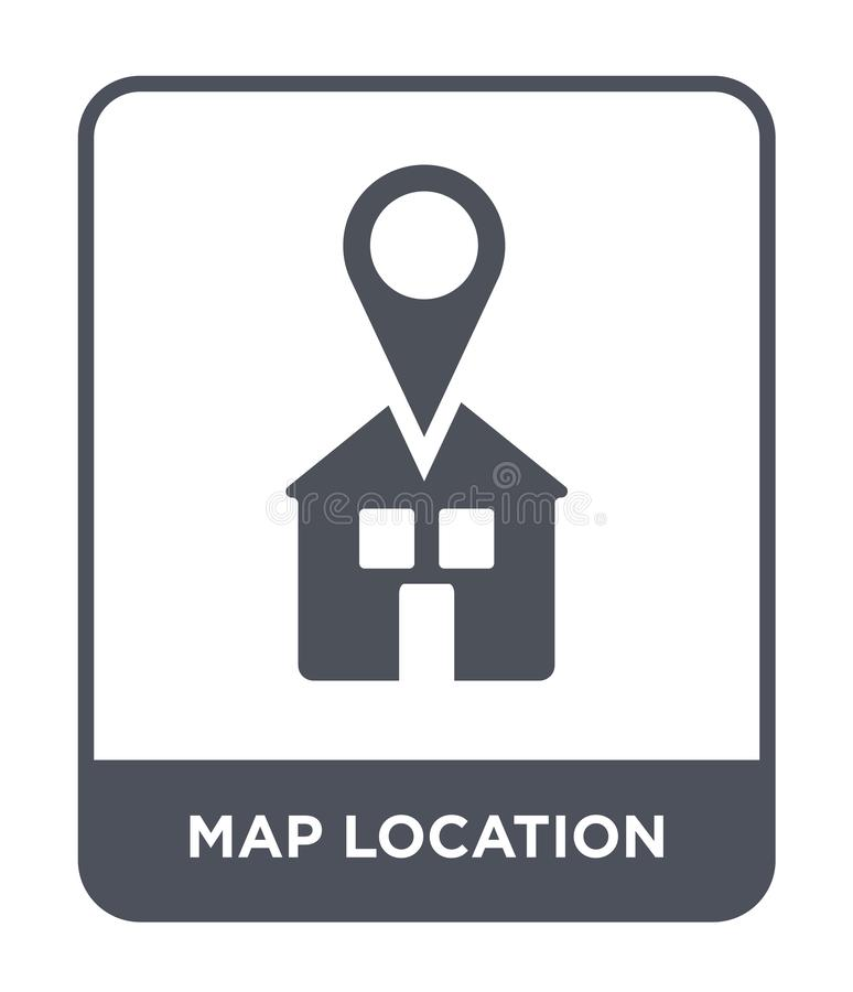 Map location icon in trendy design style. map location icon isolated on white background. map location vector icon simple and. Modern flat symbol for web site vector illustration