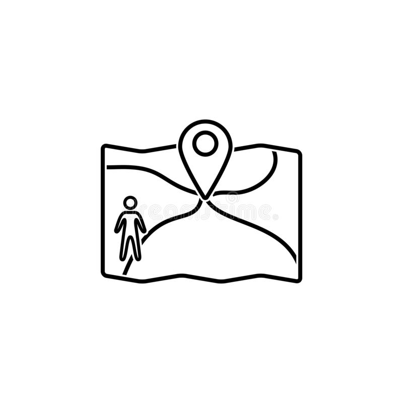 Map, location, man icon. Element of Web Navigation icon for mobile concept and web apps. Detailed Map, location, man icon can be. Used for web and mobile on royalty free illustration