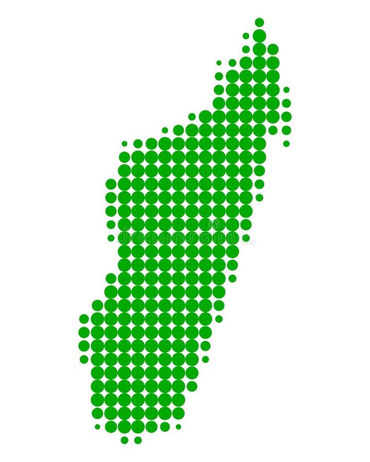 Map of Madagascar. On white stock illustration