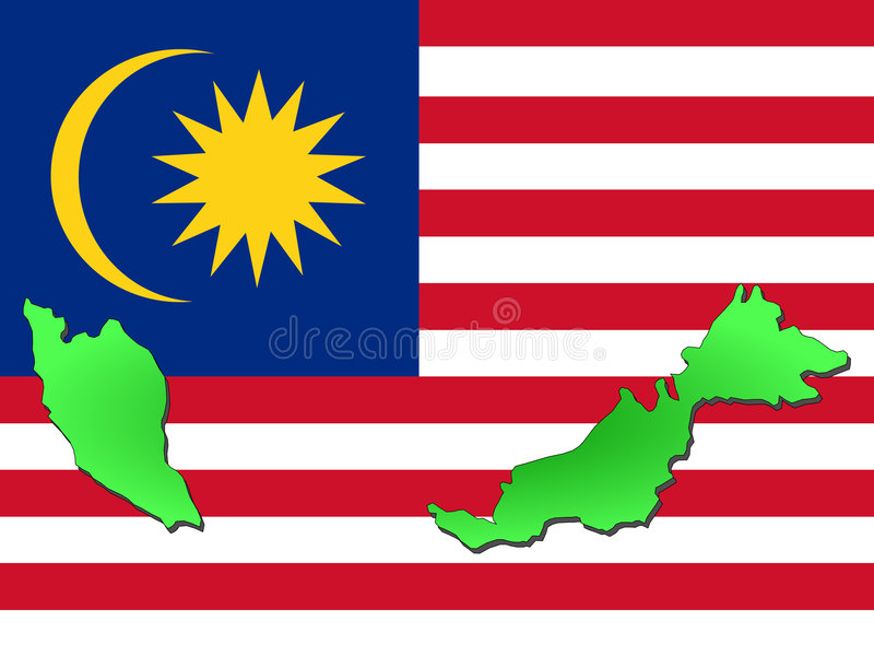 Map of Malaysia stock illustration