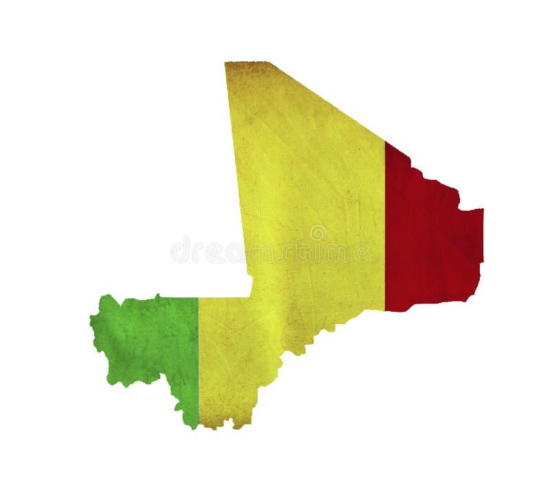 Map of Mali isolated stock image