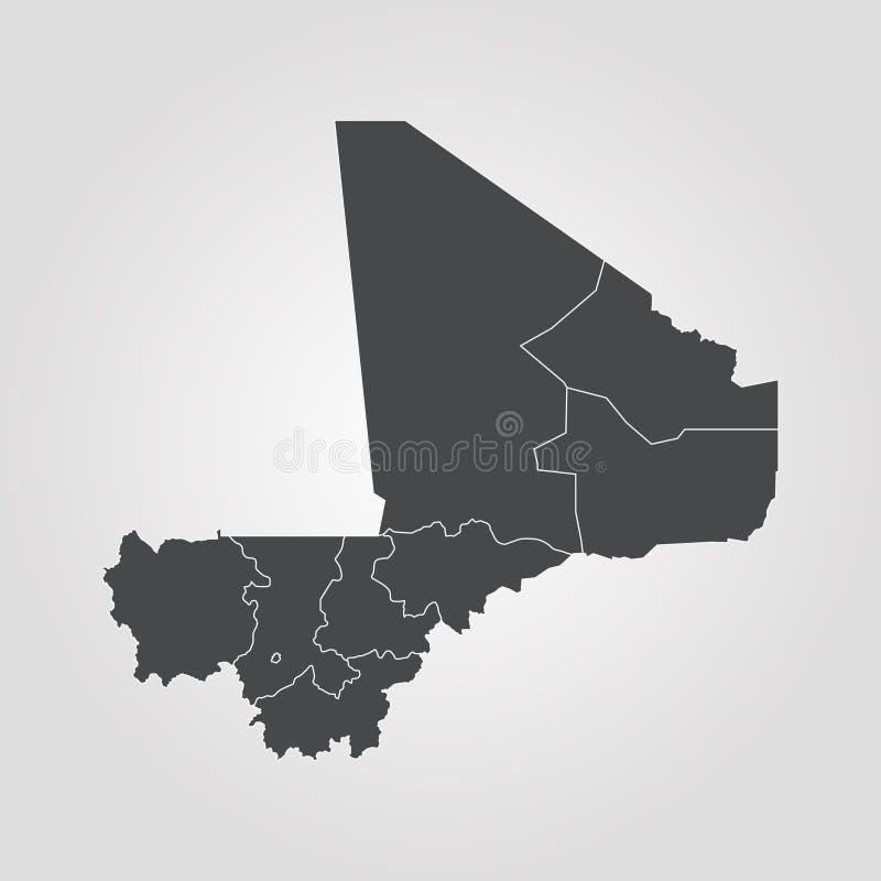 Map of Mali. Vector illustration. World map royalty free illustration