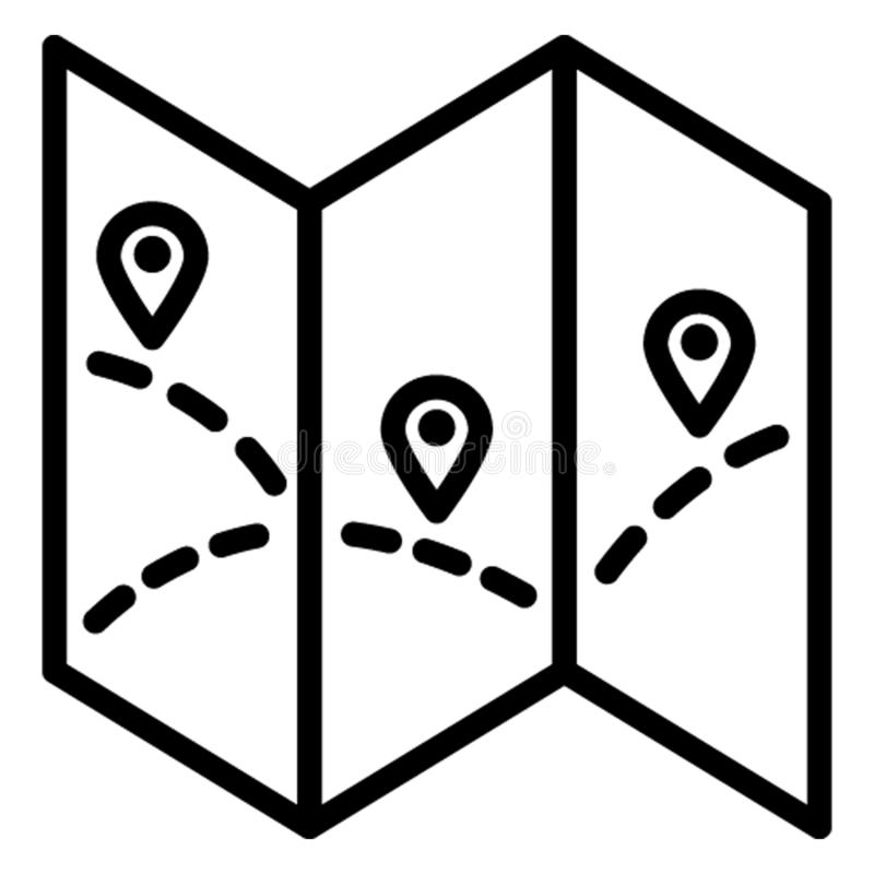 Map marker, map navigation Vector Icon which can easily edit stock illustration