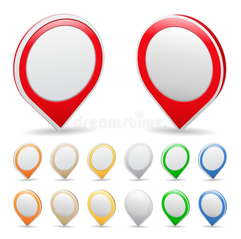 Map Markers stock illustration