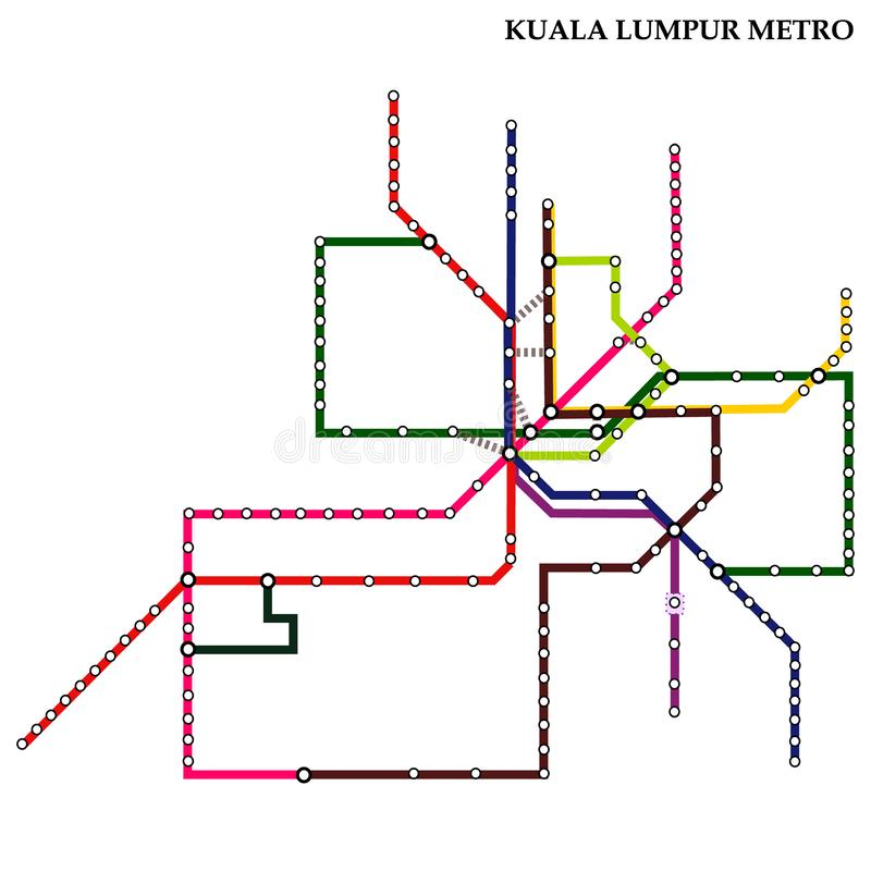 Map of the  metro, Subway vector illustration