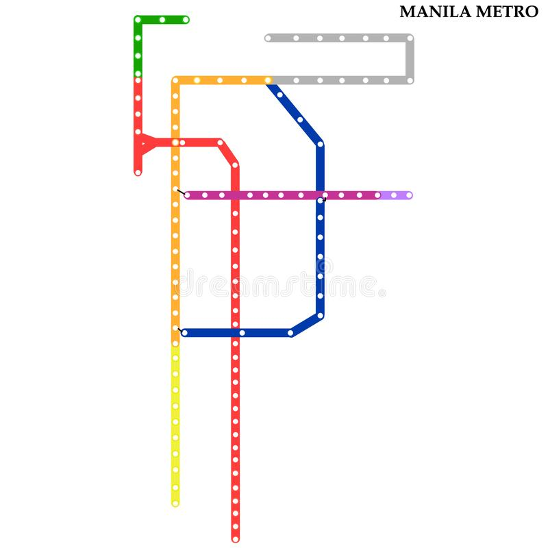 Map of the  metro, Subway royalty free illustration