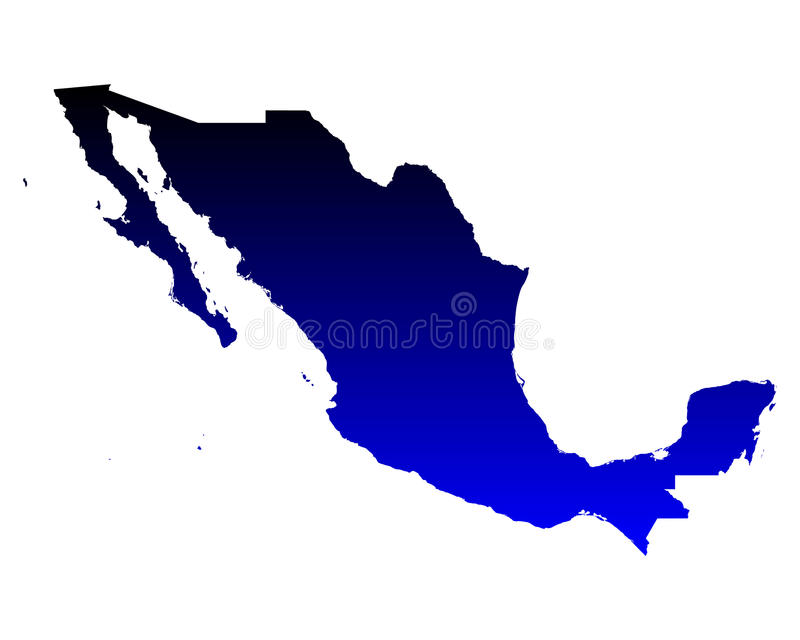 Map of Mexico. Detailed and accurate illustration of map of Mexico vector illustration