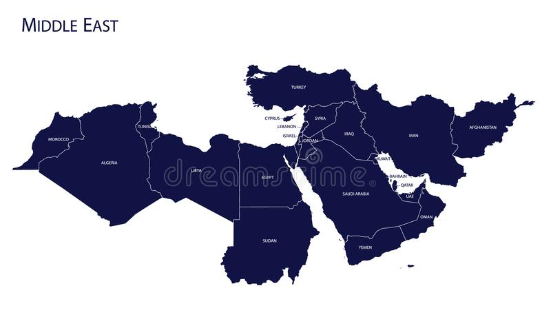 Middle east map world map full maps map of middle east stock vector illustration of country 106069848 download map of middle east stock publicscrutiny Choice Image