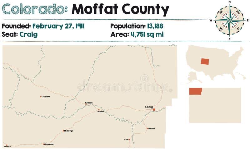 1861 UNITED STATES MAP CO MOFFAT MONTEZUMA MONTROSE MORGAN OTERO OURAY PARK huge