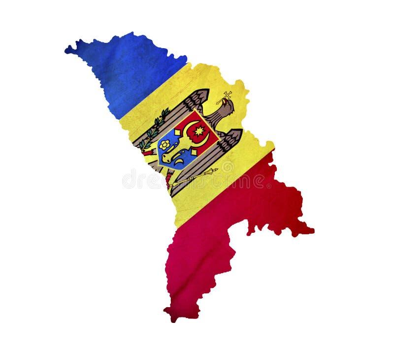 Map of Moldova isolated royalty free stock photo