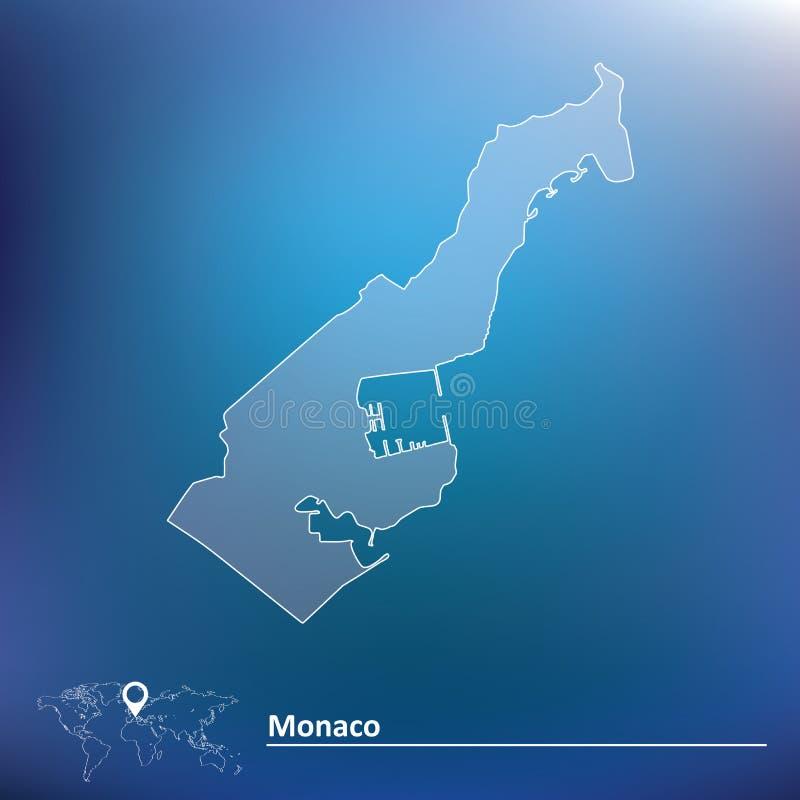 Map of Monaco. Vector illustration stock illustration