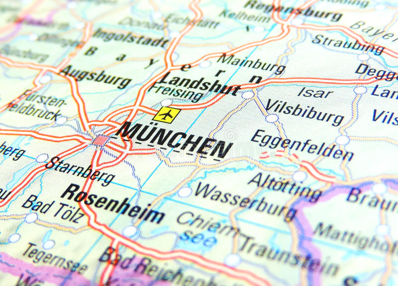Map of Munich stock image Image of geman europe effect 70115009