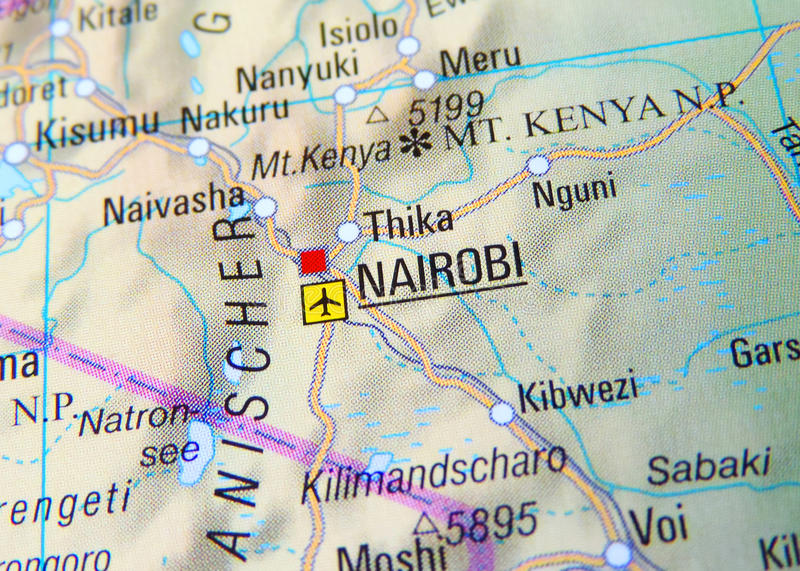 Map Of Nairobi Stock Photo Image Of Close Capital Made - nairobi map
