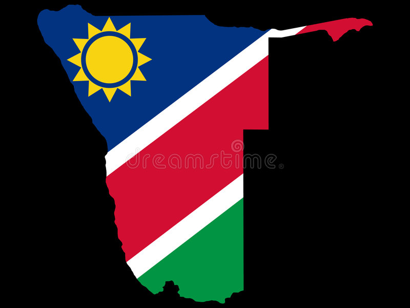 Map of Namibia vector illustration